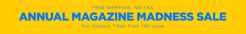 Magazine Madness Sale 2016